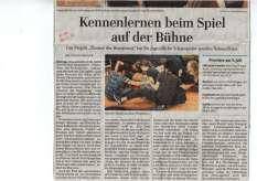 Zeitungsartikel Theater der Begegnung in Jüterbog