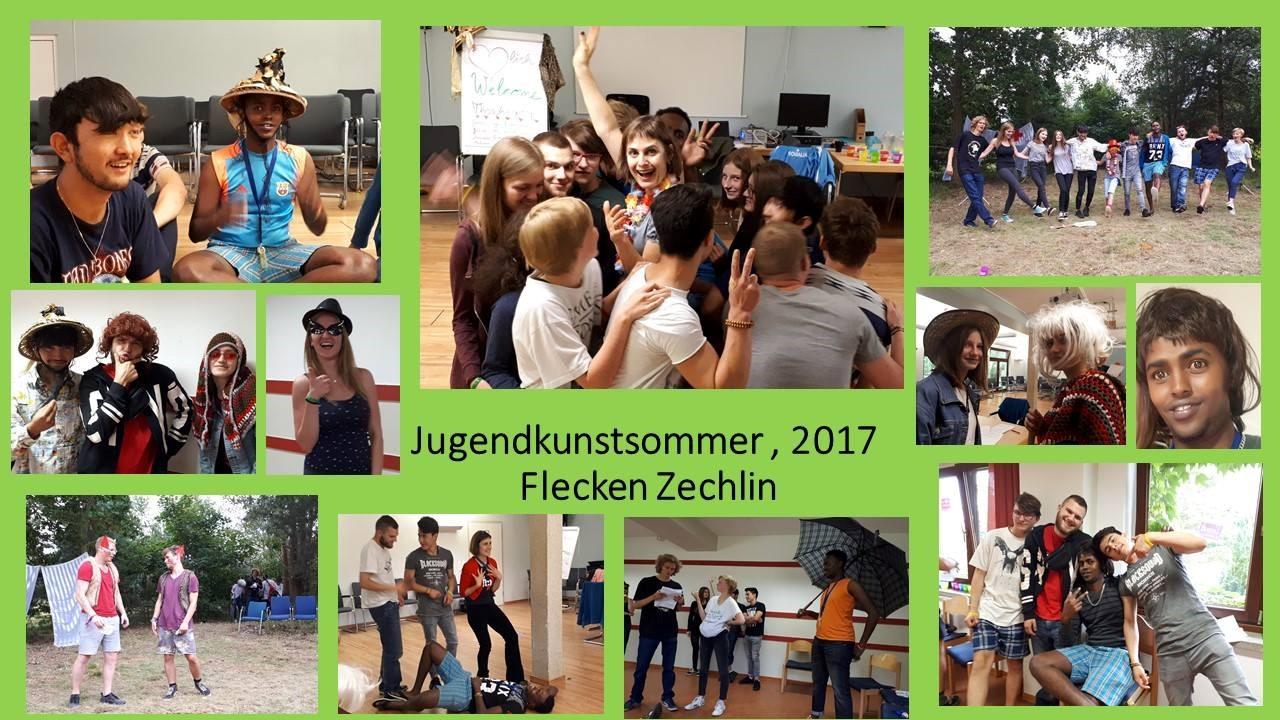 Collage Jugendkunstsommer  August 2017