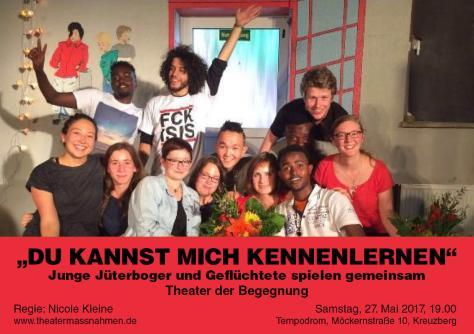 Flyer Theaterprojekt Aufführung Kirchentag